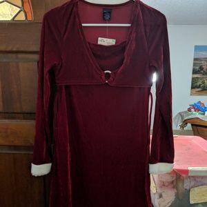 Girls size size 14/16 burgundy dress